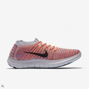 Nike Free RN Motion Flyknit Orange Running Size 8